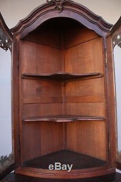 Corner Cabinet Oak Louis XV Style Nineteenth Time