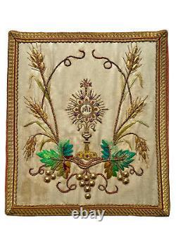 Corporal Ostensoir Fellowship Ihs Embroidery Liturgy Messe Religion Epoque XIX Ème