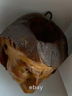 Couple Tobacco Pot Busts In Wood Imitation Plaster Era Late XIX Beginning XX Th