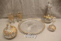 Crystal Night Service And Gold Baccarat Model Bamboo Time Nineteenth Century
