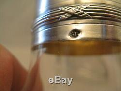 Crystal Night Service And Silver Punch Neck Brace Era Nineteenth Century