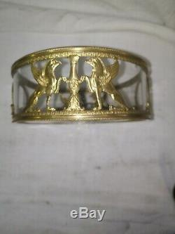 Cup Empty Pocket Crystal And Brass Golden Era End XIX