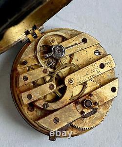 Death Watch Charles Oudin Silver - Crown Ebonite Vicomte Period 19th