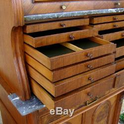 Dentist Cabinet Cylinder Walnut Era XIX