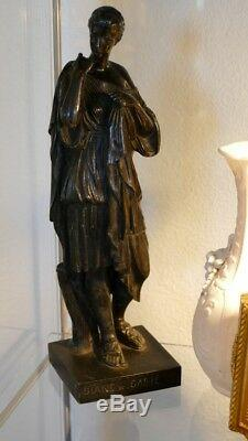 Diane De Gabie, Bronze Sculpture Patina Brune, Time XIX