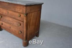 Dresser With Detached Columns In Walnut Empire Nineteenth Time