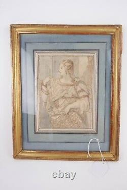 Elegant Dessin Epoque 19th In The Good Of The Titian