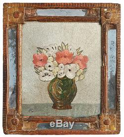 Embroidered Tapestry Frame Under Glass Xixth