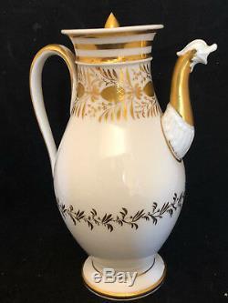 Empire Period Porcelain Vase Paris Early Nineteenth Century Golden