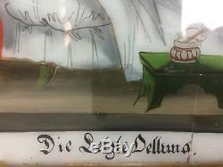 Ex-voto Fixed Under Glass Dormition Era Xixth Alsace Popular Art