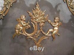 Firewall Bronze Louis XV Style Rococo Era Nineteenth Century