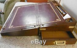 Folder From Travel Xixth Mahogany And Brass Marine Corners Of Purpose