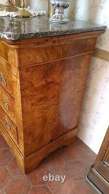 Former Charles X-era Restoration Dresser, Early 19th Century. Ash Loupe