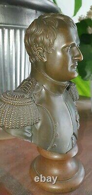 Former Small Bronze Bust Of Napoleon I Epoque XIX