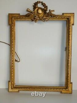Frame Golden Wood Stuc Attributes Music Louis XVI 18th Or 19th Century