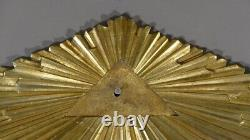 Fronton Soleil In Golden Bronze, Masonic, Masonic Franc, Era Xixth