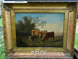G. Baudry Pastoral Landscape Epoque Louis Philippe Hst Nineteenth Century