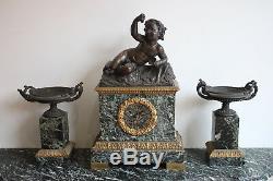 Garniture Decor Bacchus Epoque Nineteenth Century