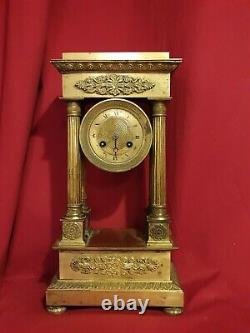 Golden Bronze Clock Period Empire Xixth Century
