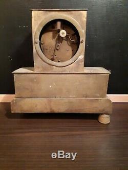 Golden Era Bronze Old Pendulum Clock Empire XIX S
