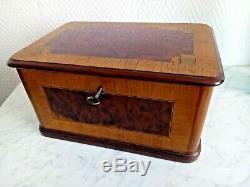 Grand Jewelry Box Inlaid Vintage Late Nineteenth 21386