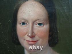 Grand Portrait Of Woman Epoque Louis Philippe Ecole Française 19th Century Pst