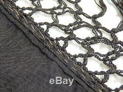 Grand Silk Shawl Manila Embroidery An Angle Era XIX É