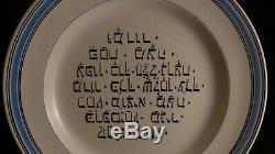 Great Hebraique Flat Plate Faience Niderviller Time Xix, Judaica