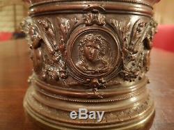 Great Time Tobacco Jar XIX S Bronze And Metal
