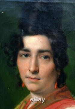 Great Woman Portrait Charles X French School Of The Nineteenth Century Hst