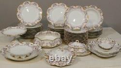 Haviland, Service Aux Roses, 54 Pieces Of Porcelain Period Late 19th Century