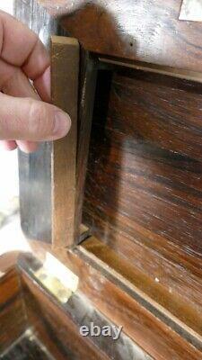 Important Box In Secrets En Marquetrie De Palissandre, Early 19th Century