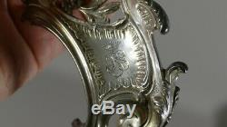 Inkwell Louis XV Rocaille In Silver, Crown Comtale, Time XIX