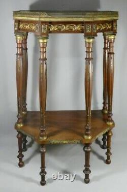 Input Console Louis XVI Style 6 Feet And Mahogany Brass, XIX Em Time