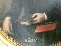 J. Delion Xixéme Oval Portrait Of Man Napoleon III