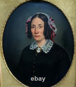 J. F. Layraud Portrait Of Woman Of The Second Empire Hst Of The 19th Century
