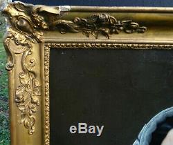 J-b Bonjour Woman Portrait Epoque Louis Philippe Hst Nineteenth Century