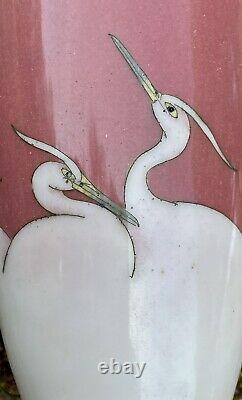 Japan Copper Vase And Enamels Cloisonnés Meiji Period 19th Century