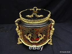 Jardiniere With Cap And Zinc Marquetry Boulle Xixth Napoleon III