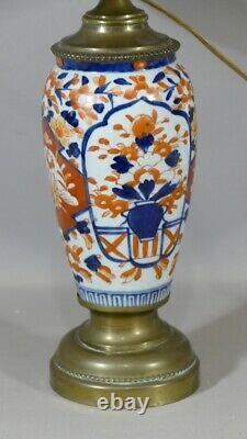 Lamp Imari In Japanese Porcelain, Late 19th Century