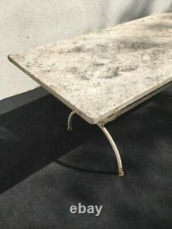 Large Garden Table With 19th Century Marble Tray