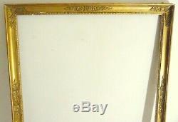 Large Golden Frame Empire Period Friezes Stripes Heart XIX Eme 78 X 64cm