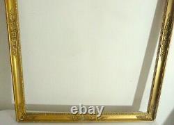 Large Golden Frame Period Empire Friezes Of Heart XIX Eme 78 X 64cm