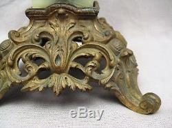 Large Lamp Oil Nineteenth Century Baccarat Glassware Or Saint Louis
