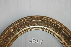 Large Oval Frame In Gilded Wood. Louis XVI Style, Nineteenth Time