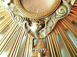 Large Reliquary, Gilded And Silvered Bronze Sculpture Xixth