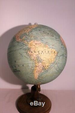 Large Terrestrial Globe Globe Geographer J. Forest Era Nineteenth Century