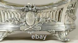 Léon Lapar, Silver Gardener Massive Style Louis Xvi, Late 19th Period