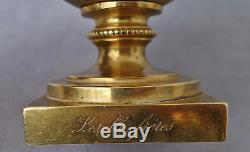 Lerolles Rare Brothers Cup Gilded Bronze Epoque Nap. III Xixth Signed
