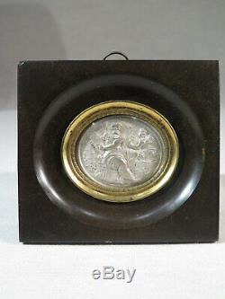 Little Old Frame Mini Silver Leaf Moses Tables Of The Law Time Nineteenth